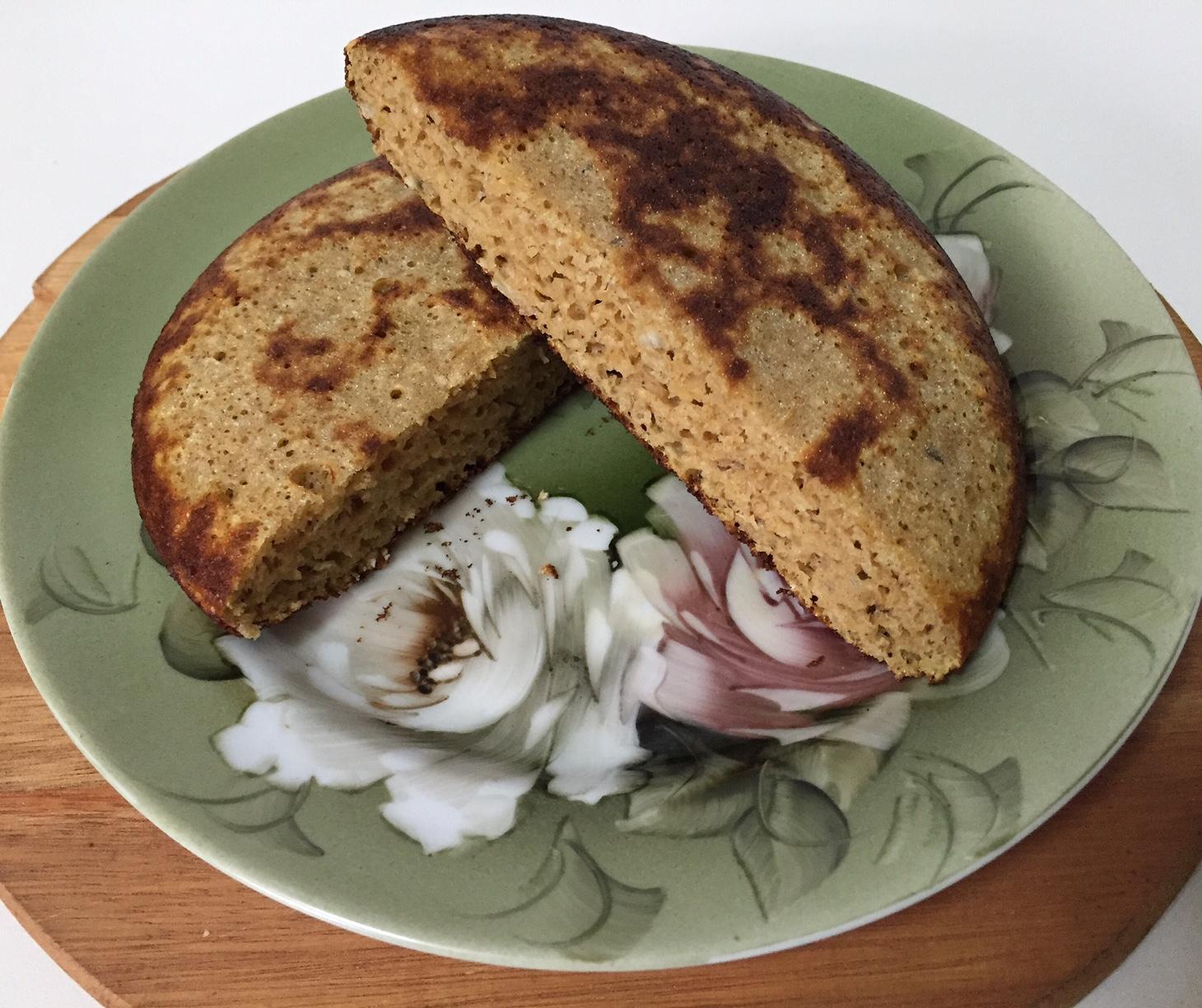 Pão de Batata Doce de Frigideira